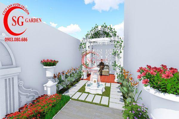Thiết kế vườn Châu Âu anh Huy khu Phú Mỹ Hưng 7