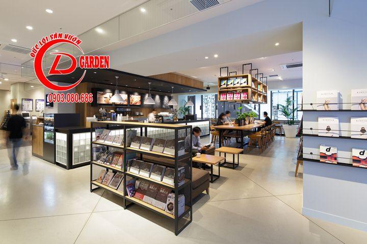 Thiết Kế Quán Cafe Sách Phong Cách Nhật Bản 2
