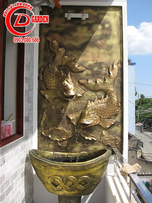 Tranh Phù Điêu Cá Chép Vượt Vũ Môn Hóa Rồng 4