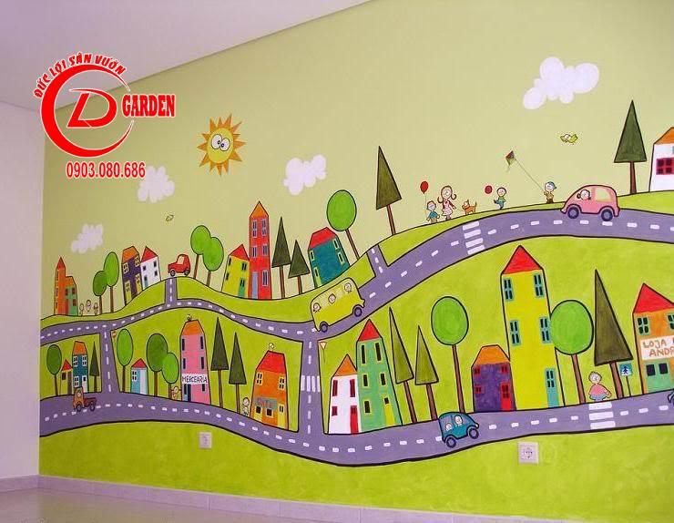 Vẽ Tranh Tường Đẹp 3