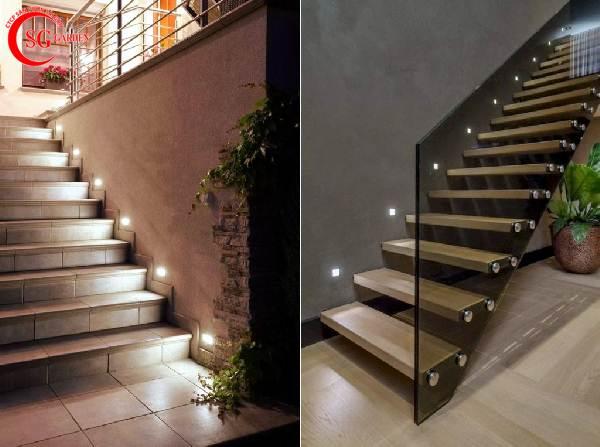 đèn chiếu sáng cầu thang sân vườn 2