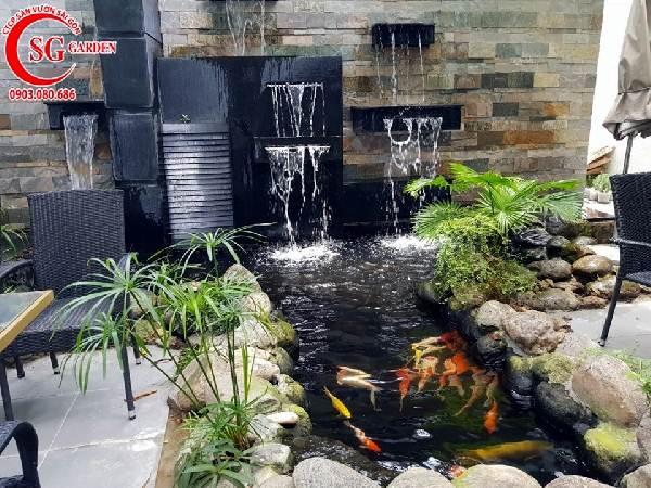 quán cafe hồ cá koi 1