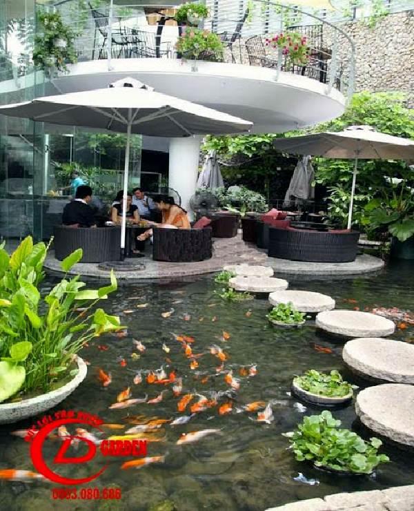 quán cafe hồ cá koi 3