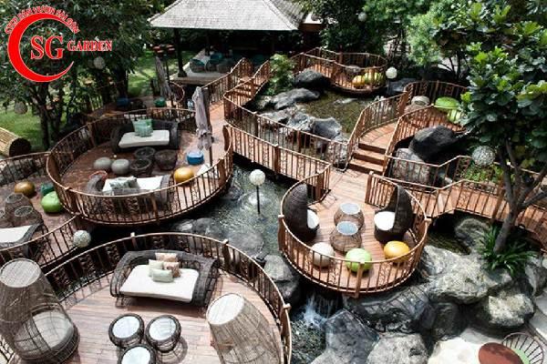 quán cafe sân vườn 5