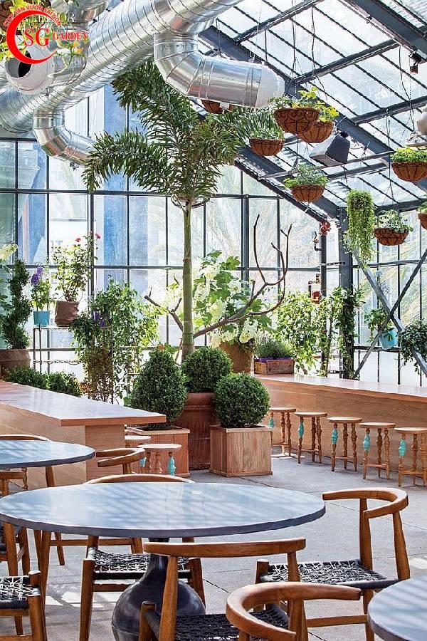 quán cafe sân vườn 9