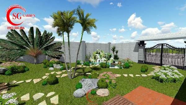 sân vườn biệt thự nhiều cây xanh 10
