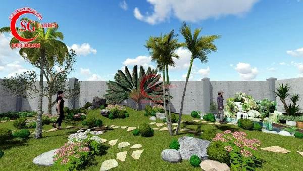 sân vườn biệt thự nhiều cây xanh 11