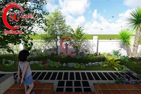 sân vườn biệt thự nhiều cây xanh 3