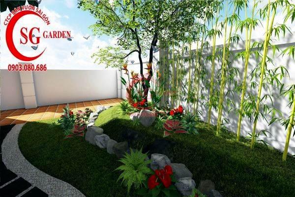 sân vườn biệt thự nhiều cây xanh 7