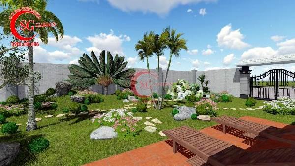 sân vườn biệt thự nhiều cây xanh 8