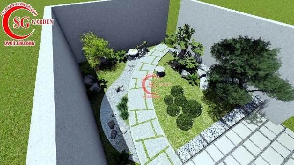 sân vườn biệt thự phong cách nhật bản 1