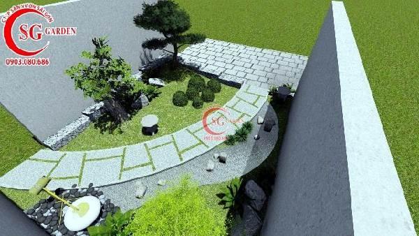 sân vườn biệt thự phong cách nhật bản 3
