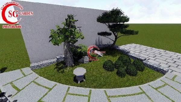 sân vườn biệt thự phong cách nhật bản 5