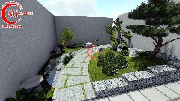 sân vườn biệt thự phong cách nhật bản 6