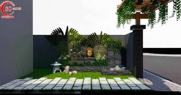 sân vườn biệt thự phong cách nhật bản 8