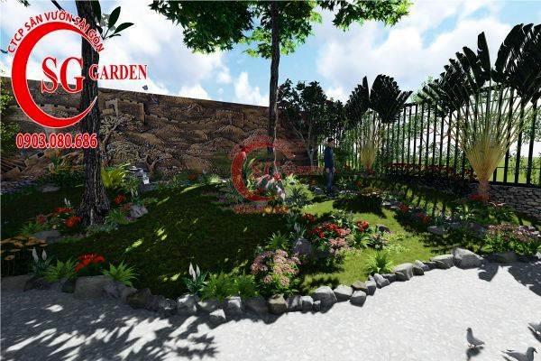 sân vườn biệt thự tiểu cảnh 2