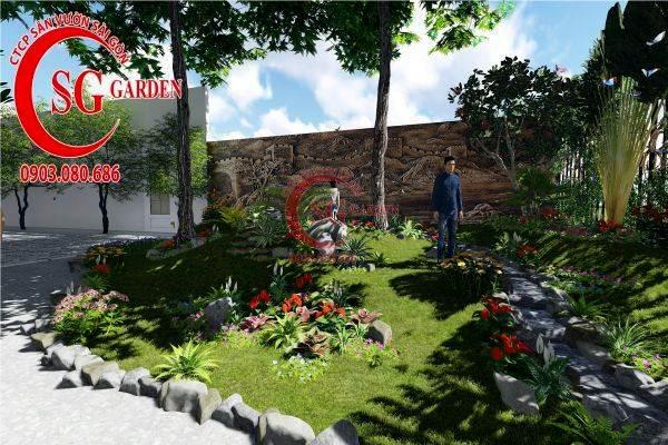 sân vườn biệt thự tiểu cảnh 5