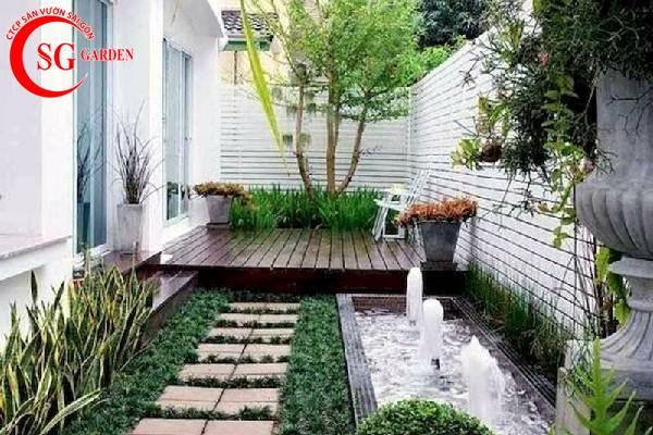 sân vườn nhỏ sau nhà 4
