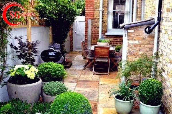 sân vườn nhỏ trước nhà 4