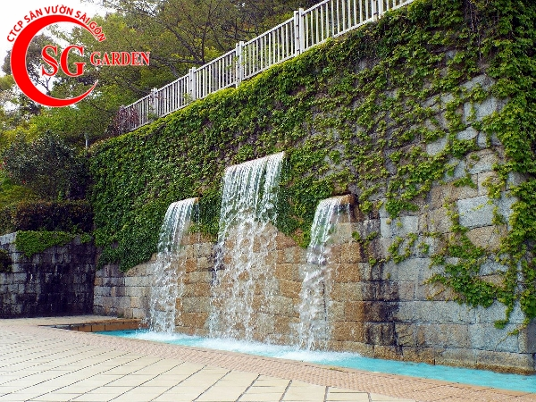 cách làm thác nước trên tường 10