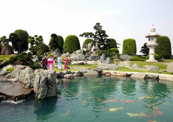 công viên cá chép nhật rin rin 4