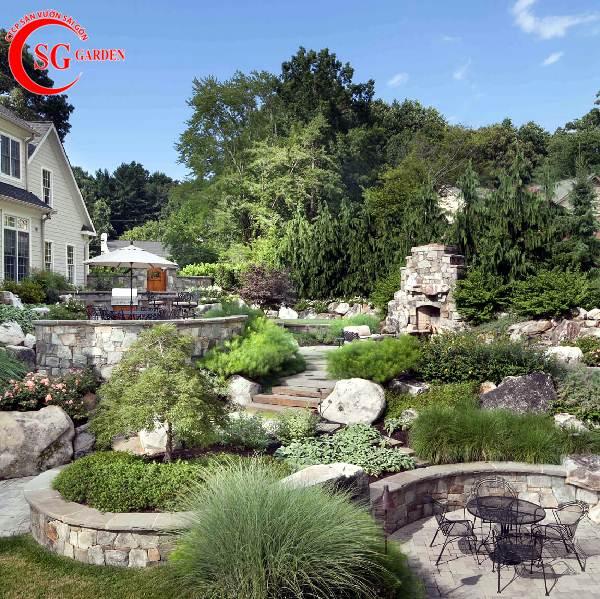 đá lát sân vườn đẹp 8