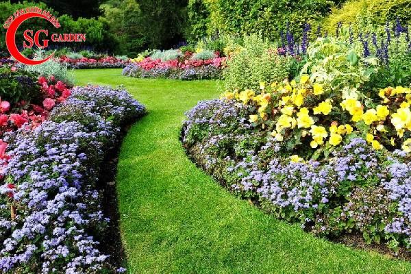 đường viền bồn hoa sân vườn