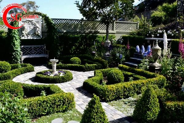 sân vườn trước nhà phong cách Châu Âu 1