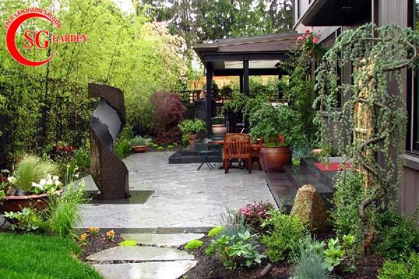 sân vườn trước nhà phong cách Nhật Bản 1