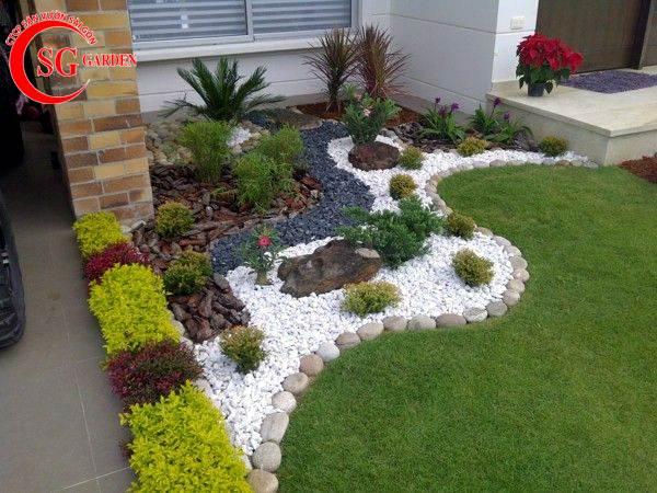 sỏi trang trí sân vườn 10