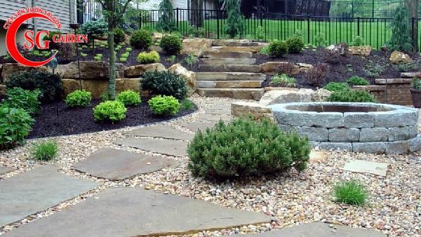 sỏi trang trí sân vườn 13