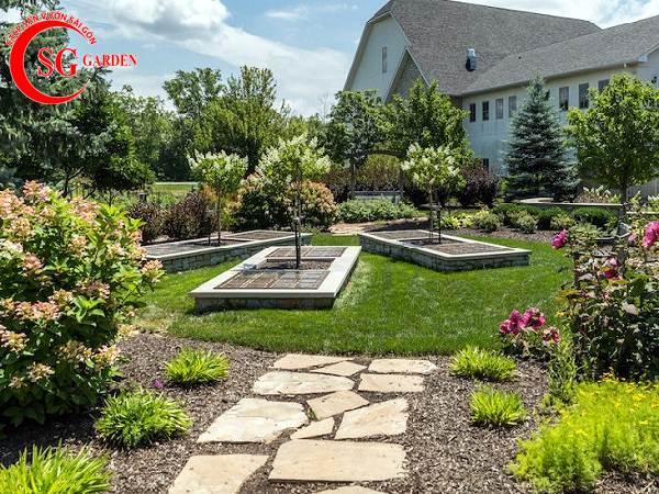 sỏi trang trí sân vườn 15
