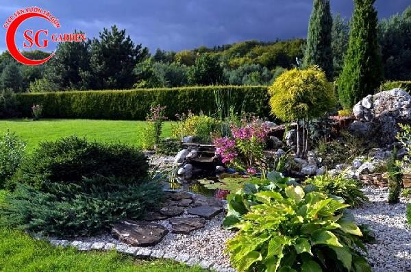 sỏi trang trí sân vườn 16