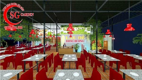 thiết kế nhà hàng sân vườn việt nam 2