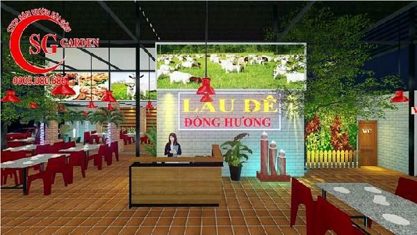 thiết kế nhà hàng sân vườn việt nam 3