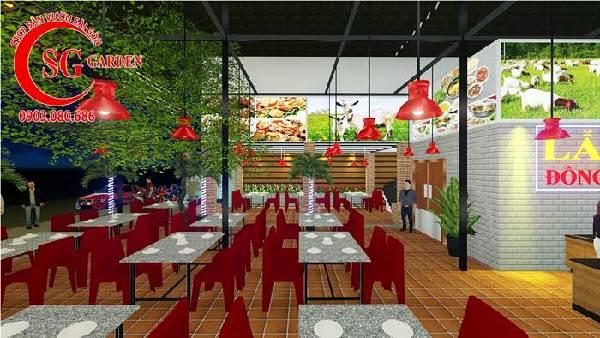 thiết kế nhà hàng sân vườn việt nam 5