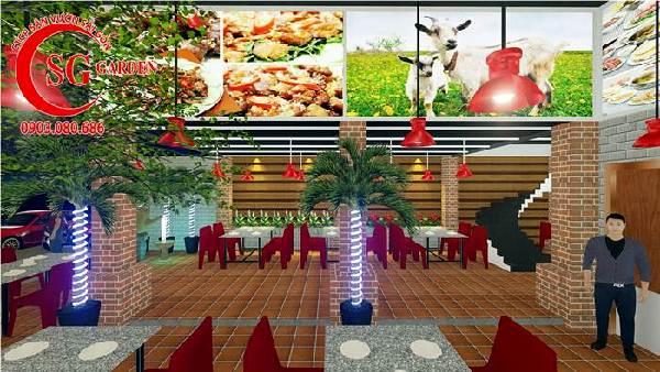 thiết kế nhà hàng sân vườn việt nam 6