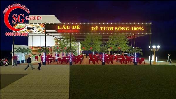 thiết kế nhà hàng sân vườn việt nam 7