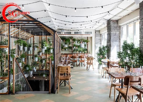 thiết kế nhà hàng sân vườn 13