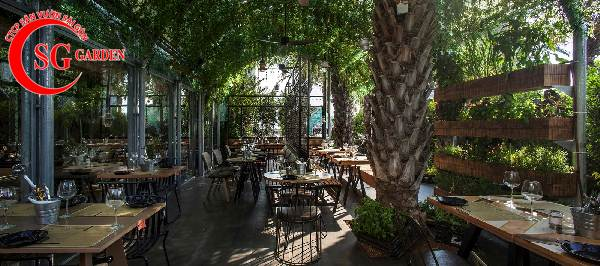 thiết kế nhà hàng sân vườn 14