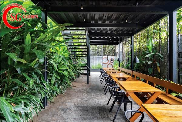 thiết kế nhà hàng sân vườn 2