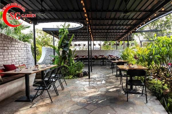 thiết kế nhà hàng sân vườn 3