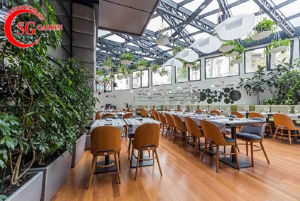 thiết kế nhà hàng sân vườn 8