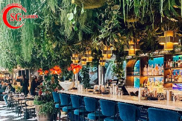 thiết kế nhà hàng sân vườn châu á 2