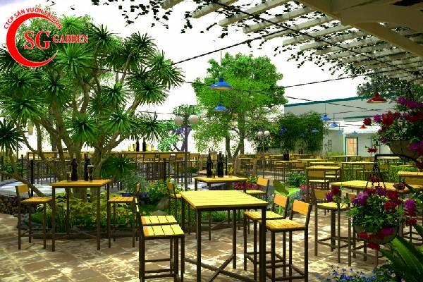 thiết kế nhà hàng sân vườn châu á 4