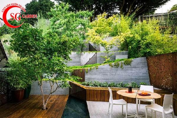 thiết kế nhà hàng sân vườn châu á 1
