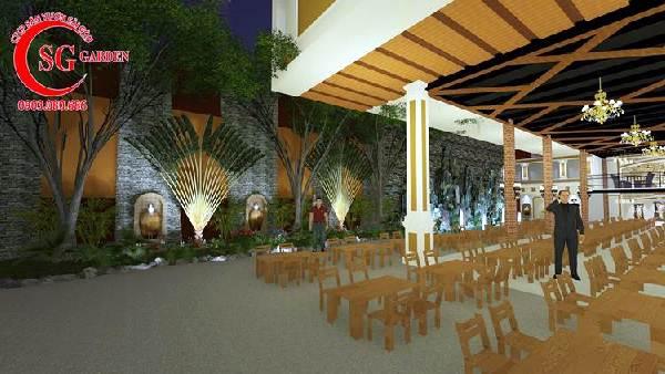 thiết kế nhà hàng sân vườn châu âu 3