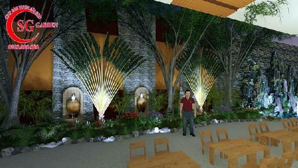 thiết kế nhà hàng sân vườn châu âu 4