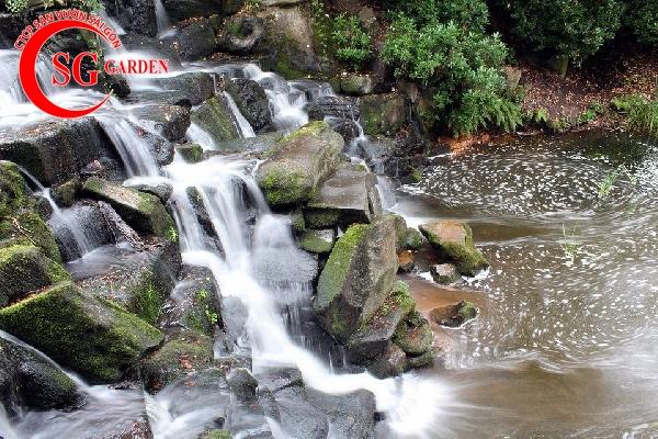tiểu cảnh thác nước 9