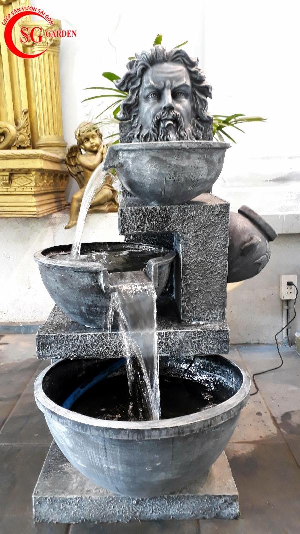 tiểu cảnh thác nước mini 1
